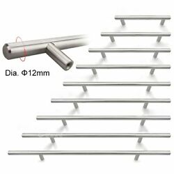 10/25pcs 2 4 5 6 8 10 12 Stainless Steel Kitchen Cabinet Handle T Bar Pull