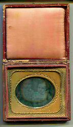 Sixth Plate Daguerreotype Portrait Of Tow Childs C1850 Signed Masury