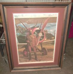 James Dietz This Old Hand Pilot Airplane Aviation Print 177/1000 Signed J2