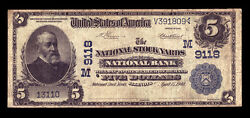 5 1902 Date Back The National Stock Yards National Bank Illinois Ch 9118