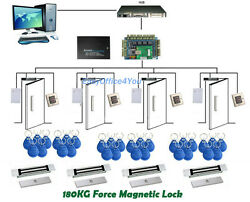 Full Security Door Access System Control Panel Kit+power Box+180kg Magnetic Lock