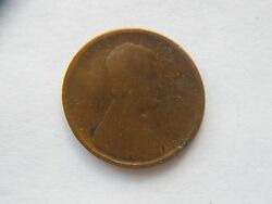 1909-p Lincoln Wheat Cent 1st Year Made Error Coin Struck Through Grease