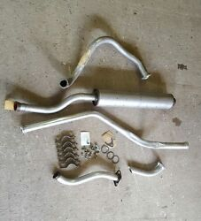 Jeep M151a2 Exhaust Pipe Complete Set W/ Hardware Muffler Tailpipe Mutt N.o.s.