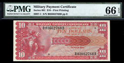10 Series 661 Military Payment Certificate Pmg 66 Epq High Grade Mpc
