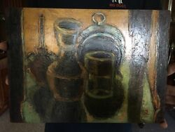 ITO : ORIGINAL HAND-PAINTED Japanese Artist Signed (ON WOOD) 1951 :)