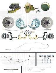 1964-1967 Chevelle Hardtop Front 9 Power Disc Brake Conversion And Full Line Kit