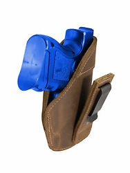 New Barsony Brown Leather Tuckable IWB Holster for Compact 9mm 40 45 Pistols