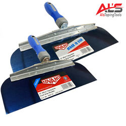 Advance Drywall Offset Taping Knife 10 And 12 Blue Steel Finishing Knives Set