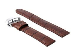 22/22mm Leather Watch Strap Band Deployment Clasp For Tissot Prc200 1853l/brown