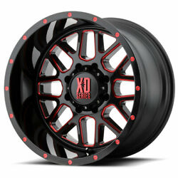 Xd Series Xd820 Grenade 20x10 8x165.1 Et-24 Blk Milled/red Clear Coat Qty Of 4