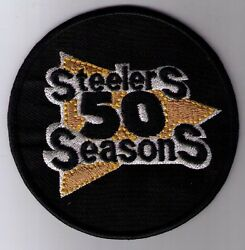 Pittsburgh Steelers 50th Anniversary Patch Iron On Or Sew On Free Ship Us Seller