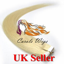 8a Best Quality 16and039and039 Tape-in 100 Russian Remy Human Hair Extensions Uk 1st