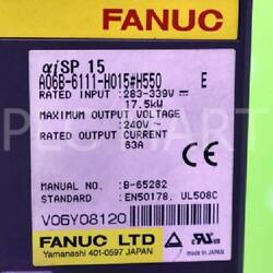Used Fanuc A06b-6111-h015h550 Spindle Amplifier Good Condition Free Shipping