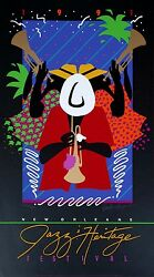 1991 New Orleans Jazz Fest Poster By Patti Harris Googe Numbered...reduced 25