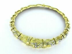HENRY DUNAY 18KT SOLID YELLOW GOLD PLATINUM NECKLACE 148.9GR JEWELRY 990050286