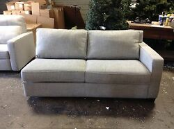 Pottery Barn West Elm Henry Sectional Right Arm Sofa Sleeper Bed Gravel Twill