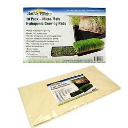 HYDROPONIC GROWING PADS -  BIODEGRADABLE MICRO MATS SEED GROW STARTER - 20