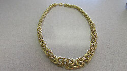Gorgeous Etruscan 18k Gold Necklace 17.5 Inches Long Italian Made Make Offer