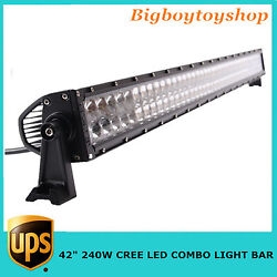 Top 4d 42''inch 240w Led Light Bar Lamp Combo Beam For Offroad Driving 4wd Jeep