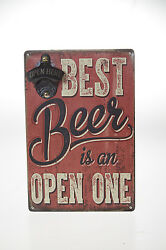 Wood Bottle Opener Wall Mount Vintage Beer Classic Collectibles Idea Wall Decor