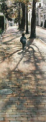 On Shadows of the Past Runs the Future Steve Hanks AP 99 31x12 Paper Signed NEW
