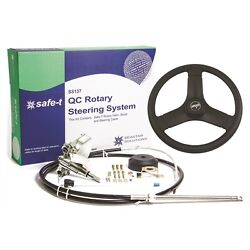 Seastar Ss-137 Safe-t Quick-connect Boat Steering System Ss13719 With 13 Wheel