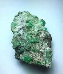 Natural Emerald Crystals From Russia On Matrix