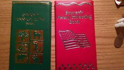 One Green / One Red Elongated Penny Souvenir Book With 2 Free Pressed Pennies