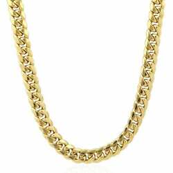 10K Yellow Gold 11mm Hollow Miami Cuban Link Chain Necklace-Box Clasp 30