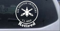 Us Army Air Defense Artillery Retired Car Or Truck Window Laptop Decal Sticker