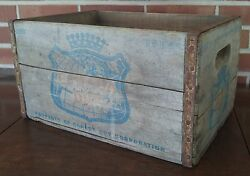 Canada Dry Ginger Ale Wood Soda Bottle Crate Case Sw-10-64