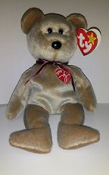 Ty Beanie Baby 1999 Signature Teddy Bear With Errors In Hang Tag Rare Retired