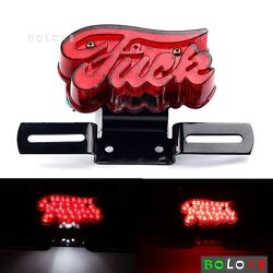 F You E-marked Taillight Red License Plate Lamps For Harleys Choppers Bobber