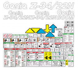 Genie Z34/22n Boom Complete Decal Kit Sn 4261 To 5504