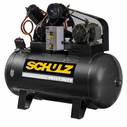 Schulz V-series 7.5 Hp 80-gallon Two-stage Air Compressor 30 Cfm 1 Phase