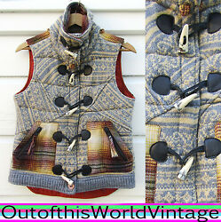 Da Nang Festival Wool Blend Vest Outdoor Hippie Boho Yoga Insulated Quilted 286