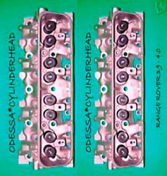2 Range Rover Land 3.9 4.0 Ohv Cylinder Heads Complete No Core