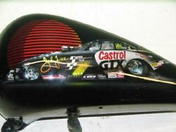 John Force tribute Harley autographed painted By Sonny DePalma paint set