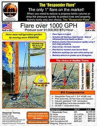 304 Stainless Steel 1 Inch Propane Flare Emergency Response Fire Lp 1075 1978