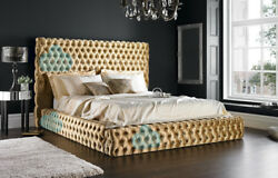Florida 6ft Super King Chesterfield Bed With Headboard Various Colours And Fabrics