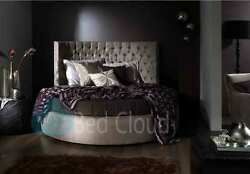 Couture 6ft3 Round Bed With Headboard 190cm In Various Colours And Fabrics