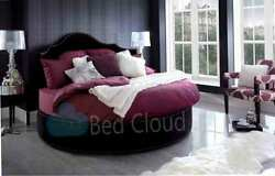 Gothic 6ft6 Round Bed With Headboard 200cm In Various Colours And Fabrics