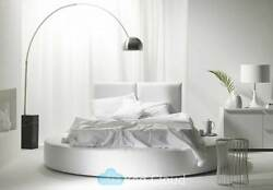 Icon 6ft Superking Size Round Bed With Headboard In Various Colours And Fabrics