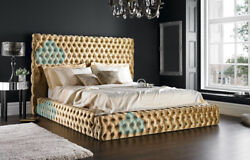 Florida 4ft Small Double Chesterfield Bed With Headboard Various Colours Fabrics