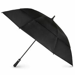 totes Auto Open Vented Golf Stick Umbrella Black One Size