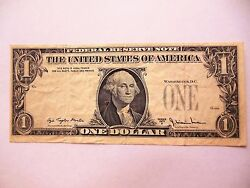 Rare 1977 A 1 Reverse Overprint 3rd Printing And Miscut Error Note