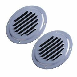 2x Stainless Steel 5 Round Louver Vent For Marine Boat Yacht Courtyard Vent