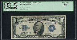 FR1703* $10 STAR NOTE 1934B SC PCGS 25 VF EXT RARE (ONLY 24 RECORDED) WLM3513