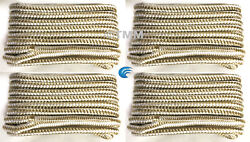 4 Gold/white Double Braided 1/2 X 15' Hq Boat Marine Dock Lines Mooring Ropes