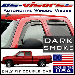 Us-visors 1999-2007 Chevy Silverado Extended Cab Window In-channel Vent Visors